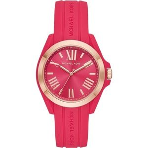 Michael Kors Bradshaw Pink RoseGold Silicone Watch